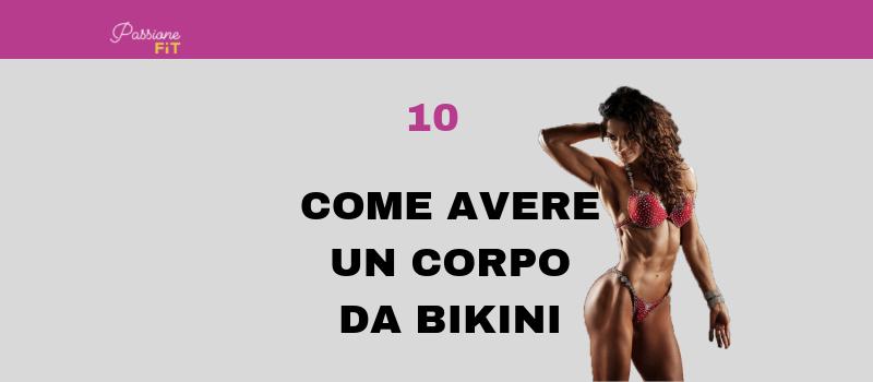 dieta e piano di allenamento per la gara di bikini